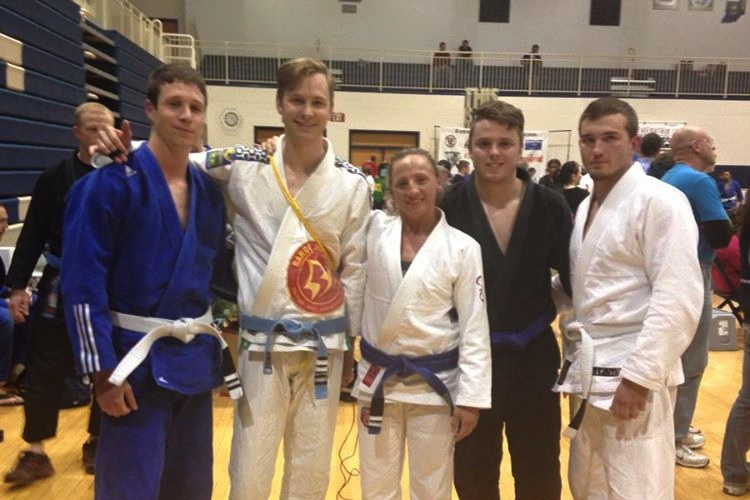 Our competition team at the Extreme Grappling Open