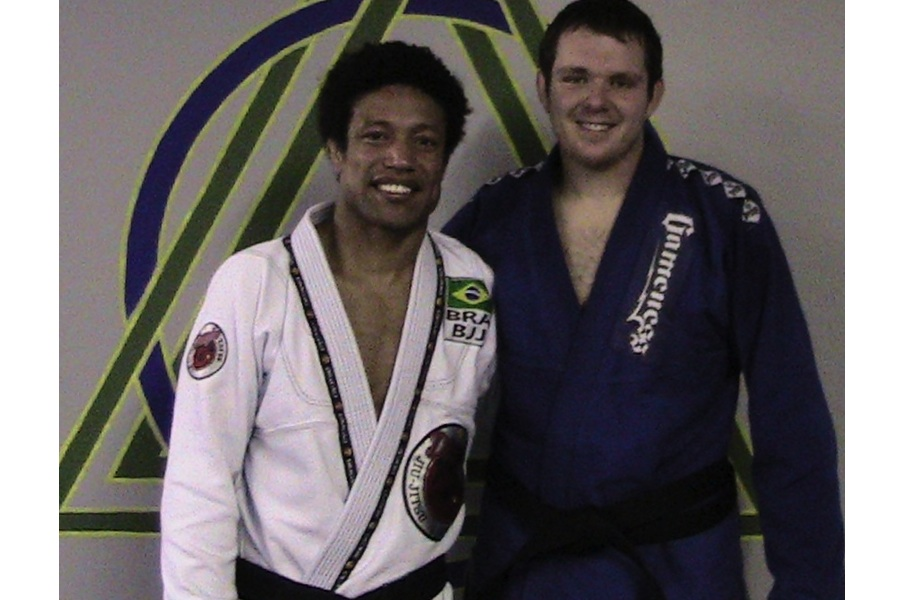 Tiago Alves with Max Burt after Max's black belt promotion